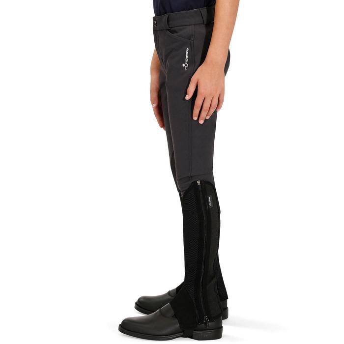 Reithose BR500 Kunstleder-Kniebesatz Kinder grau