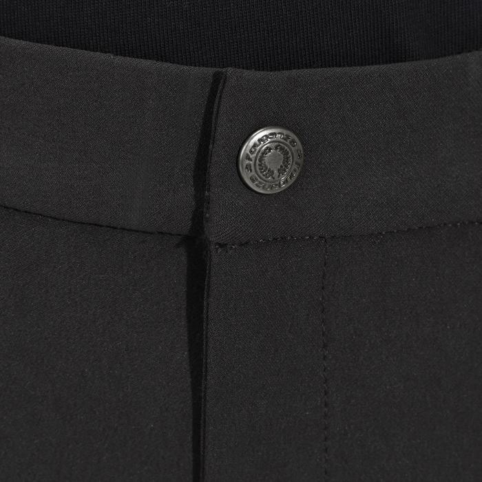 Kinderbroek BR500 met zeem en knie-inzetten, ruitersport, grijs