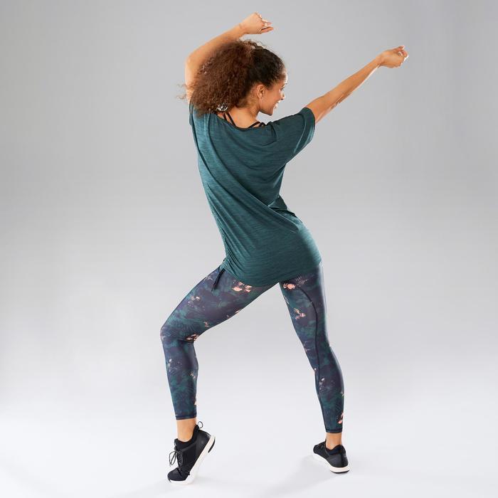Camiseta danza fitness mujer ajustable