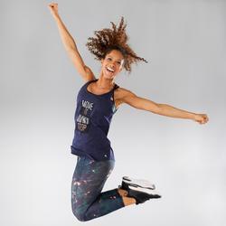 Camiseta Tirantes Fitness Dance Domyos Mujer Gris