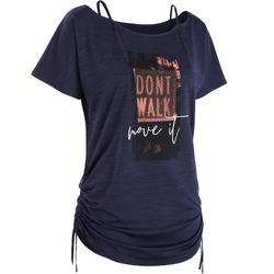 Aanpasbaar T-shirt voor dans-workouts dames