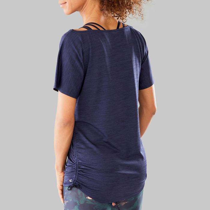 T-shirt voor dans-workouts dames aanpasbaar
