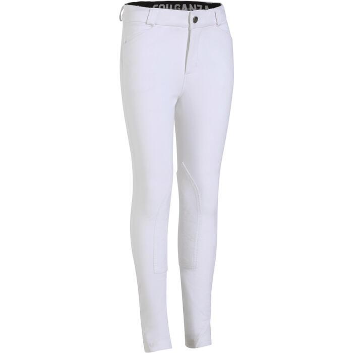 Pantalon Concours équitation enfant BR500 blanc