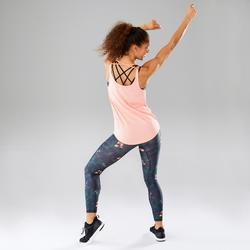 Topje voor dans-workouts dames zalmroze