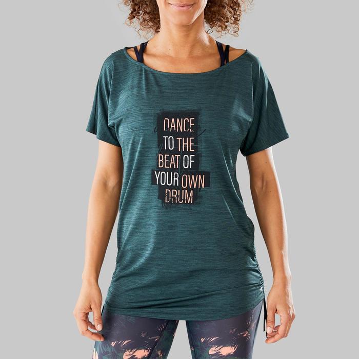 Camiseta danza fitness mujer Verde