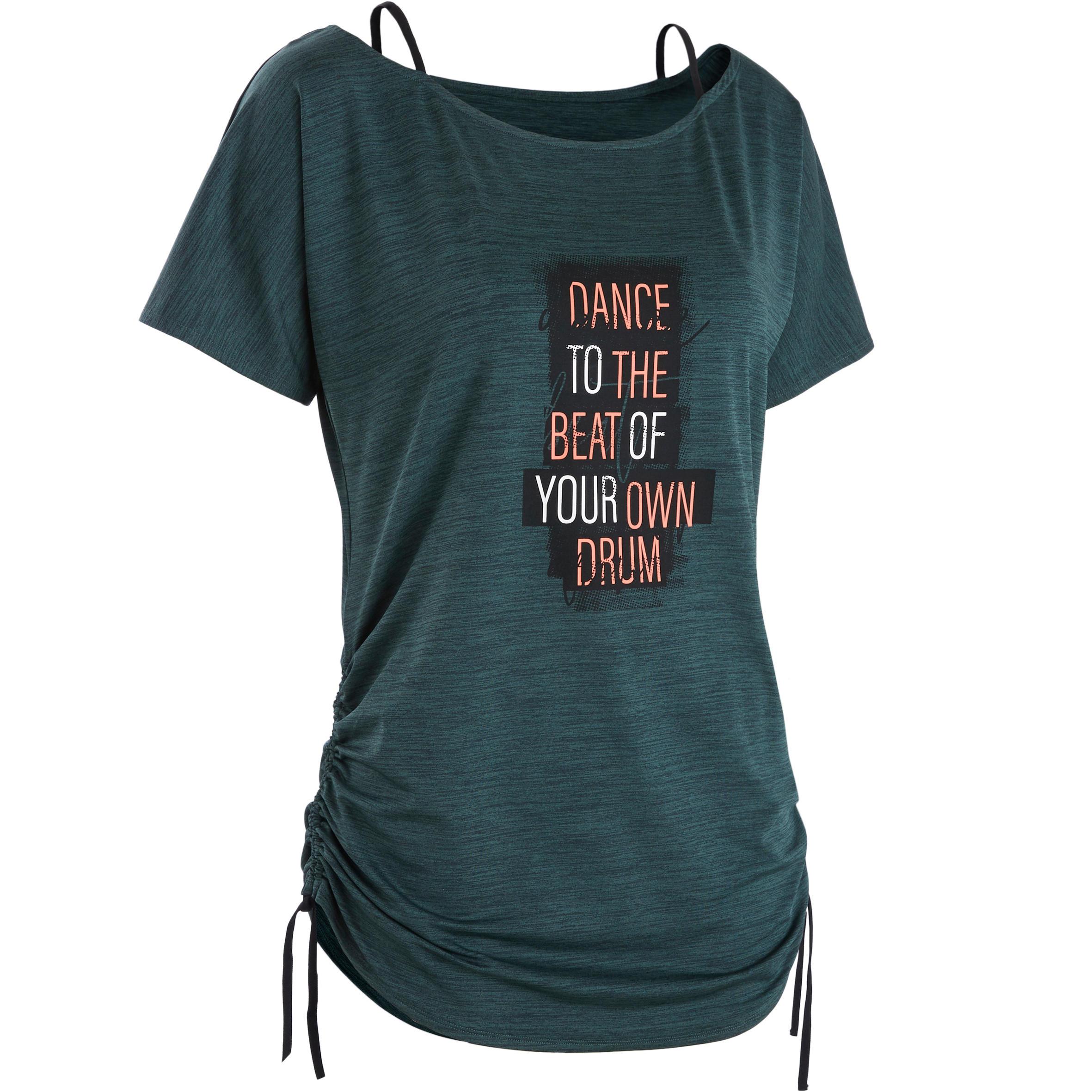Tanz-Shirt Fitness Dance Damen anpassbar | Sportbekleidung > Sportshirts > Funktionsshirts | Domyos