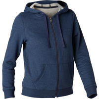 520 Women's Pilates and Exercise Hooded Jacket - Navy Blue