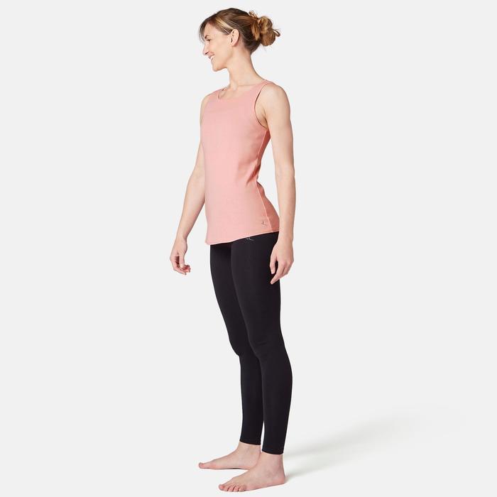 Tank-Top 500 Pilates sanfte Gym Damen dunkelrotmeliert