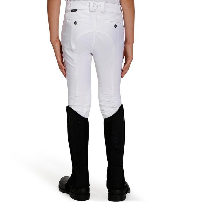 Pantalon de concours équitation enfant 500 blanc