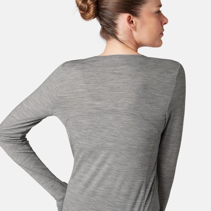 Langarmshirt 510 Gym & Pilates Damen grau meliert