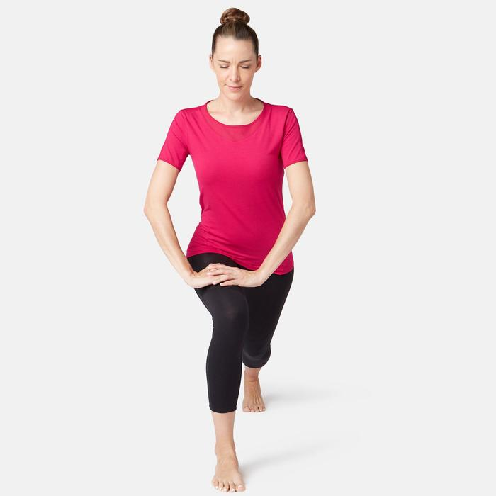 T-Shirt 520 Tüll Pilates sanfte Gymnastik Damen rot