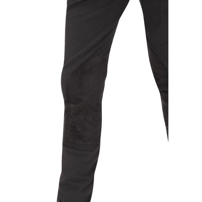 Pantalón badanas equitación niños BR500 badanas gris