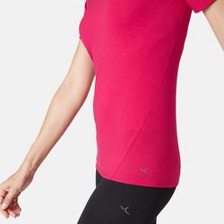 T-Shirt 520 tulle Pilates Gym douce femme rouge
