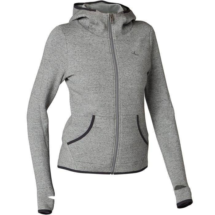 Veste 900 spacer capuche Pilates Gym douce femme gris