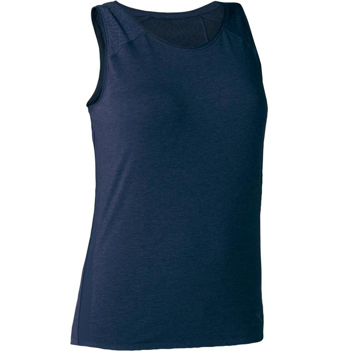 Débardeur 520 tulle Pilates Gym douce femme bleu marine chiné