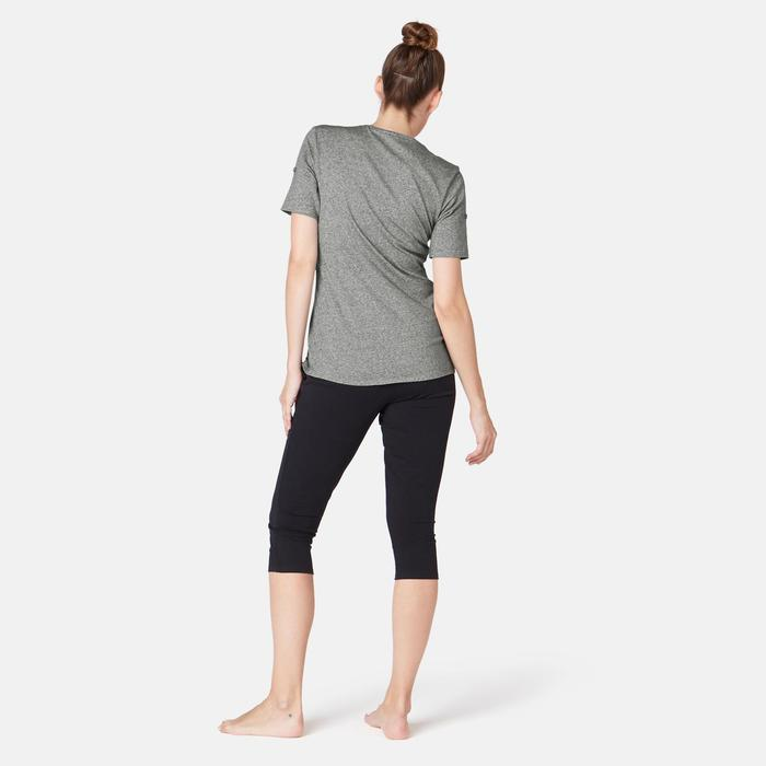 T-Shirt 510 Regular Pilates sanfte Gym Damen grau mit Print