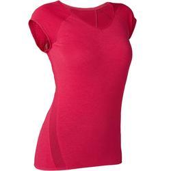Dames T-shirt voor pilates en lichte gym 530 ausbrenner rood
