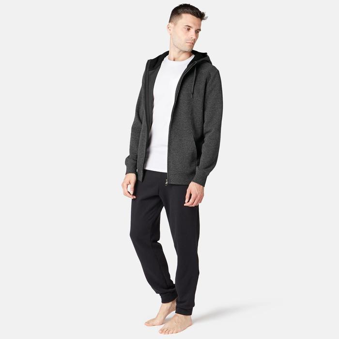 Veste à capuche zippée homme 900 grise foncé