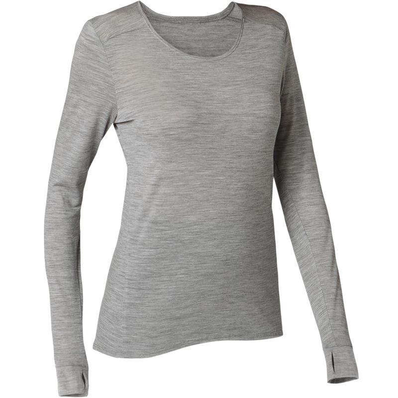 510 Camiseta Suave Y De Larga Pilates Ropa Jaspeado Gris Manga Gimnasia Mujer v8nONw0m