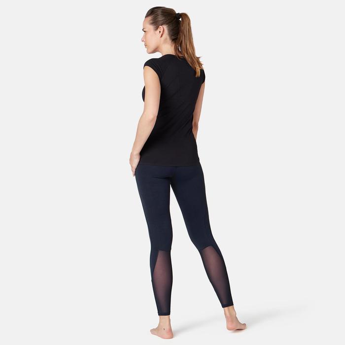 Legging 520 slim Fitness femme bleu marine printé