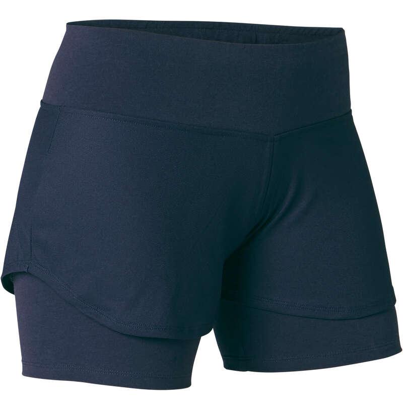 T-SHIRT, LEGGINGS, SHORT DONNA Ginnastica, Pilates - Pantaloncini donna gym 520 blu NYAMBA - Abbigliamento donna