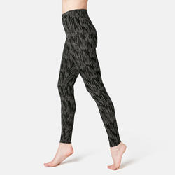 Women's Fitness Leggings Fit+ 500 - Grey Print