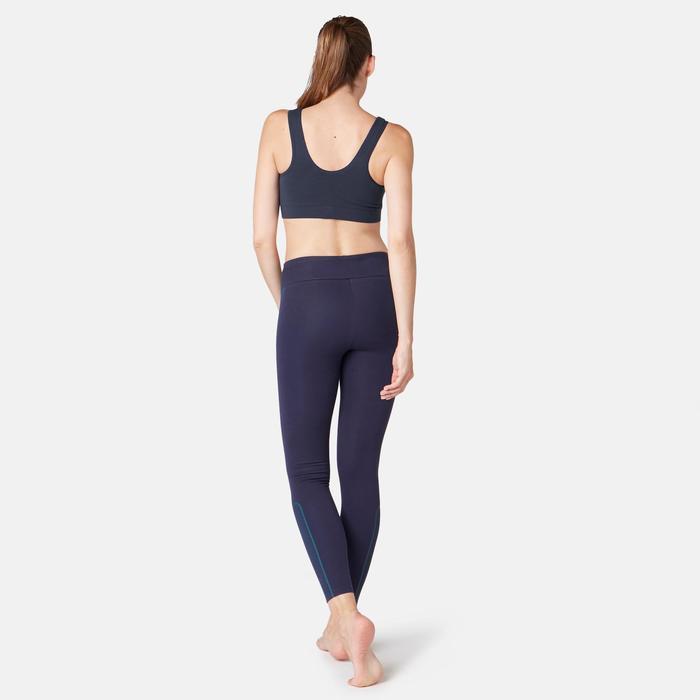 Bustier Pilates sanfte Gymnastik Damen marineblau