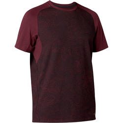 520 Regular-Fit Pilates & Gentle Gym T-Shirt - Burgundy Print