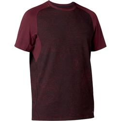 T-Shirt 520 regular Pilates Gym douce homme bordeaux printé
