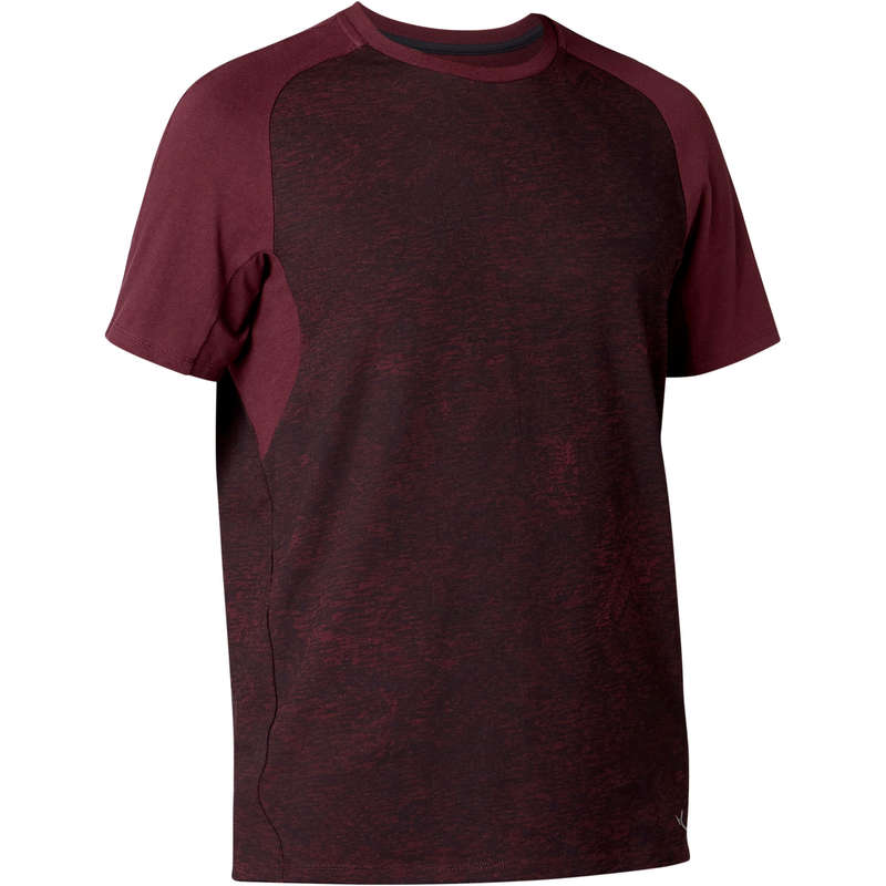 MAN GYM, PILATES APPAREL Clothing - 520 Reg Gym T-Shirt - Burgundy NYAMBA - Tops