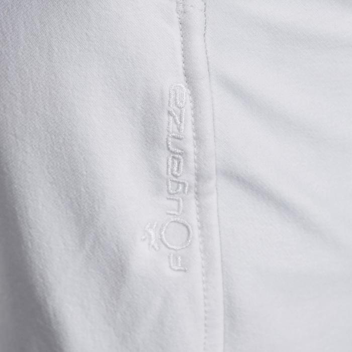 Pantalón Concurso Equitación Fouganza 500 Niño Blanco Con Badana Sintética