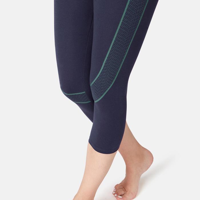 女款塑身7/8分緊身褲900 - 軍藍色