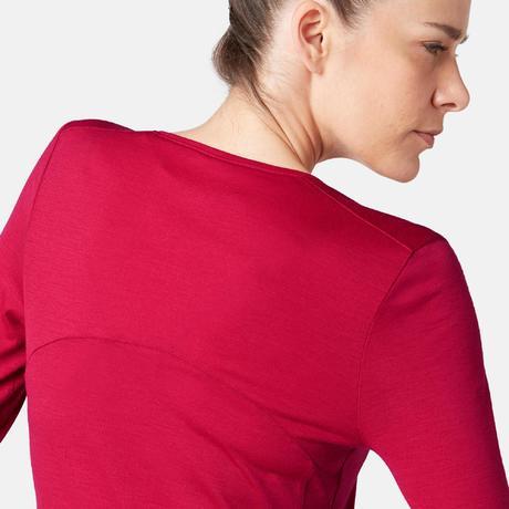 c9490bec1d T-shirt maniche lunghe donna lana gym pilates 510 rossa
