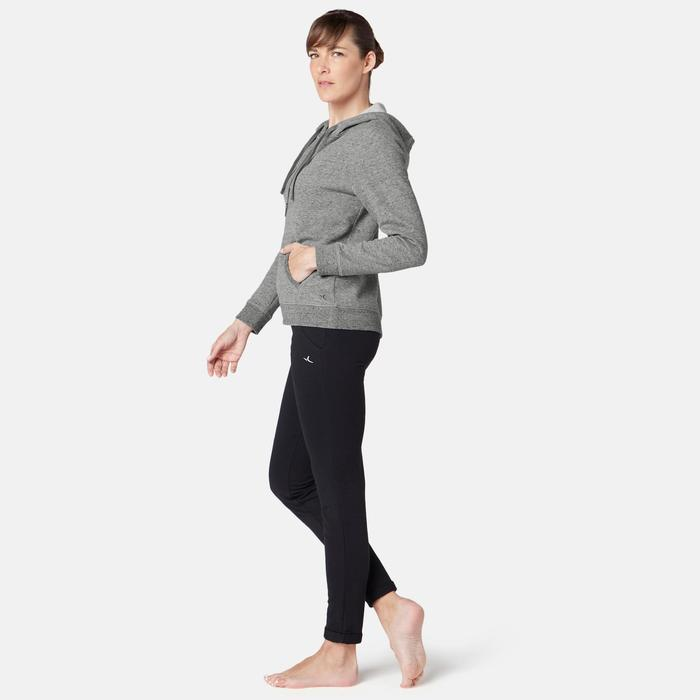 Kapuzenjacke 520 Pilates sanfte Gymnastik Damen grau