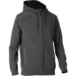 皮拉提斯與溫和健身連帽外套900 - 深灰色