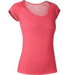 Camiseta 500 Slim Pilates y Gimnasia suave mujer rosa jaspeado
