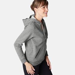 Veste 520 capuche Pilates Gym douce femme gris