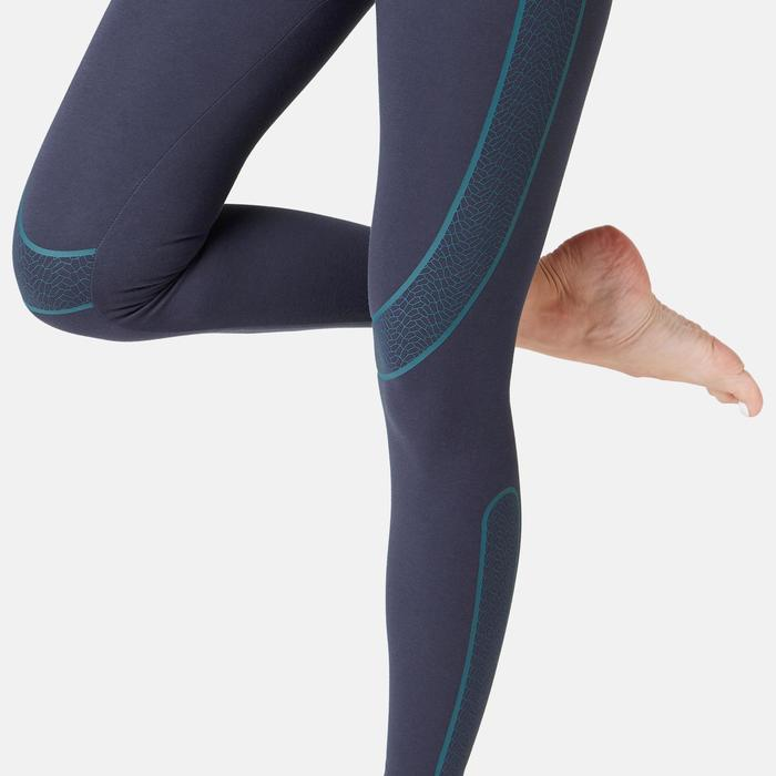 Legging Sport Pilates Gym Douce Femme Galbant Slim Bleu Marine