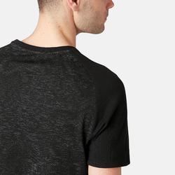 T-Shirt 520 regular Pilates Gym douce homme gris foncé printé
