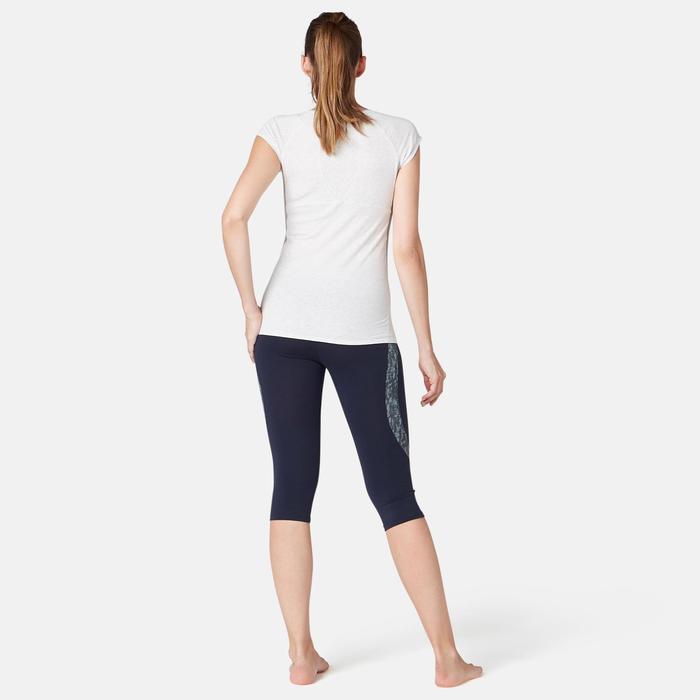 3/4-Hose 520 Slim Gym & Pilates Damen marineblau