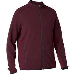 Men's Gym Jacket 500 - Burgundy