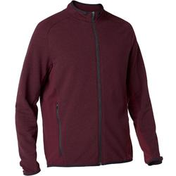 Veste 500 Pilates Gym douce homme bordeaux