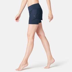Women's 2-in-1 Shorts 520 - Navy Blue