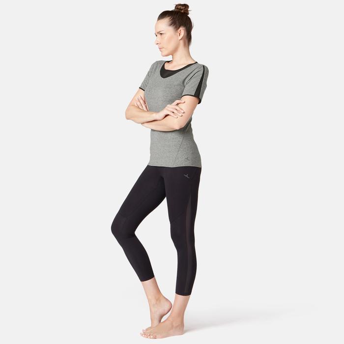 T-Shirt 520 Tüll Pilates sanfte Gymnastik Damen grau