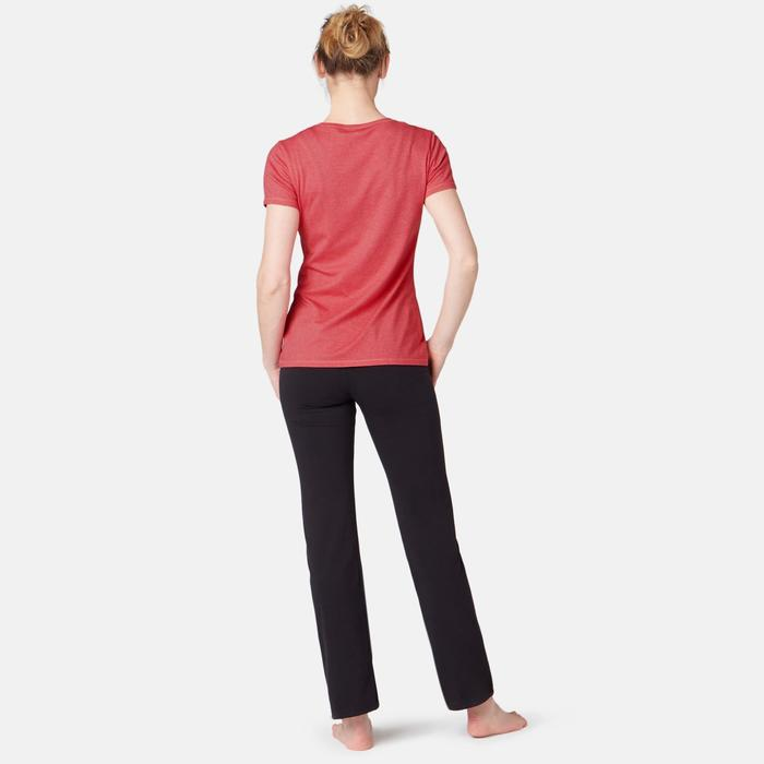 T-Shirt 500 Pilates sanfte Gymnastik Damen rosa