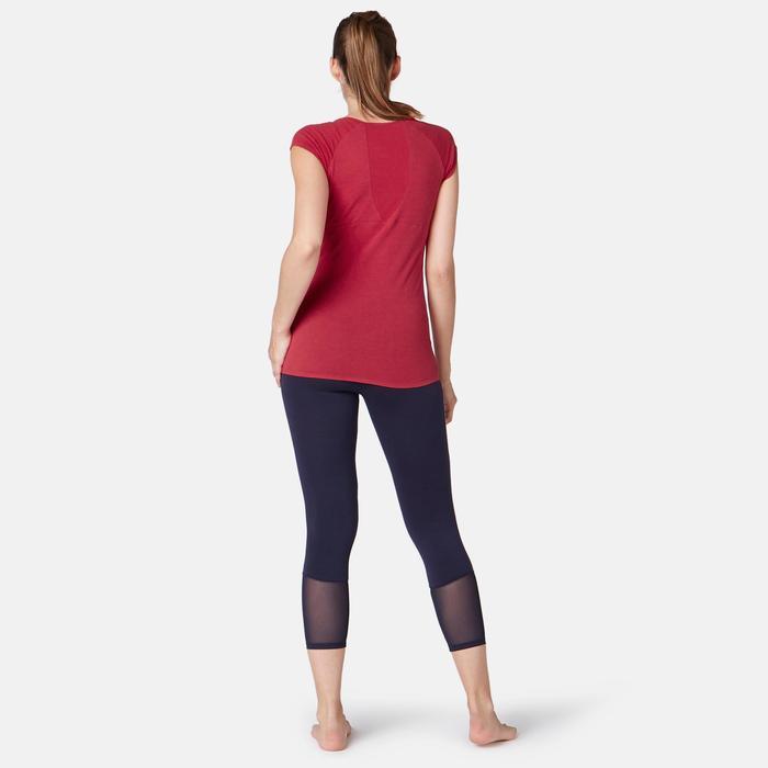 530 Women's Burnout Pilates & Gentle Gym T-Shirt - Red