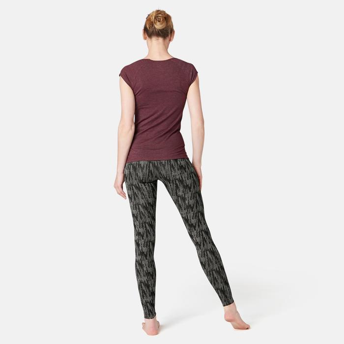 Legging Fit+ 500 Pilates Gym douce femme gris printé