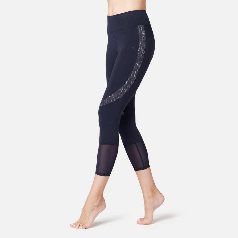 WOMAN T SHIRT LEGGING SHORT Fitness and Gym - 520 Gym 7/8 Leggings - Navy NYAMBA - Gym Activewear