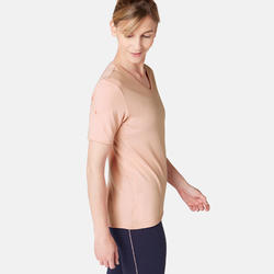 510 Women's Regular-Fit Gentle Gym & Pilates T-Shirt - Pink Print