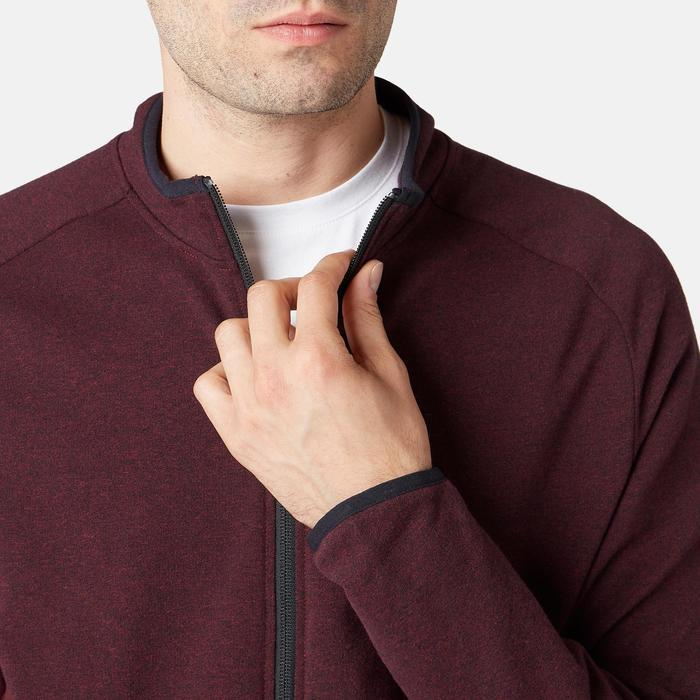 Trainingsjacke 500 Pilates sanfte Gymnastik Herren bordeaux